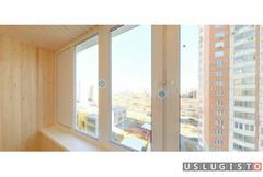 Отделка 6 м балкона деревянной вагонкой Москва