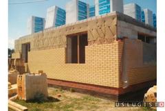 Проект дома с гаражем баней материалами бригадой Москва