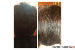 Кератиновое выпрямление волос. Полировка волос Москва