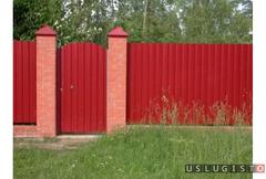 Забор из цветного профнастила под ключ Андреевка