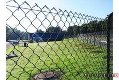 Забор из сетки рабица под ключ Андреевка