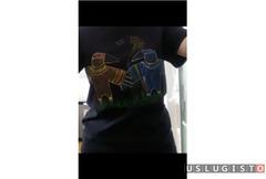 Авторская роспись футболок, толстовок и др Москва