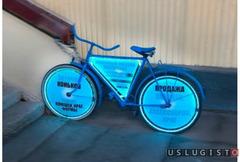 Реклама на велосипеде, велосипеды с рекламой Москва