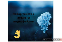Набор печатного текста со скана, фото, аудио Москва